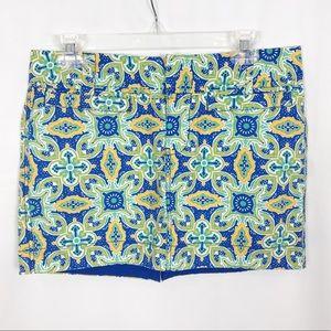 OLD NAVY Blue/Green/Yellow Paisley Print Skirt-4